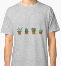 cactus hipster drawing Classic T-Shirt