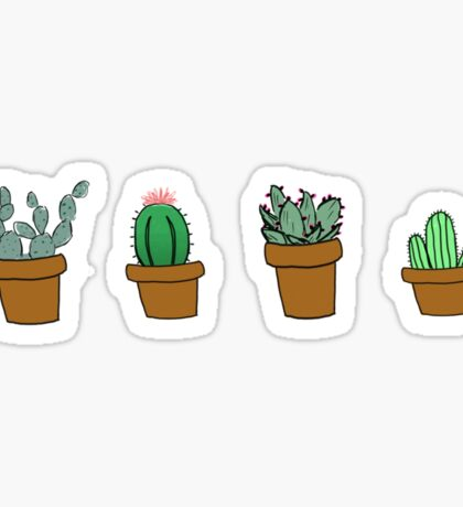 cactus hipster drawing Sticker