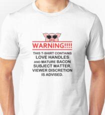 Bacon Lover Warning Unisex T-Shirt