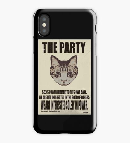 Orwellian Cat Is Not Interested iPhone Case/Skin