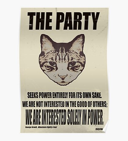 Orwellian Cat Is Not Interested Poster