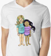 Gracie & Alba - Purple Mens V-Neck T-Shirt