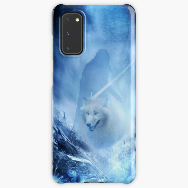 Jon Snow and Ghost - Game of thrones - Winter is here Samsung Galaxy Snap Case