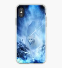 Jon Snow and Ghost - Game of thrones - Winter is here iPhone Case
