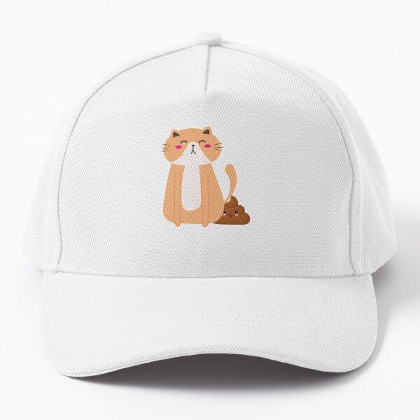pooping Cats Funny T-shirt Funny Animal Lover Gag Joke Gift for Women, Men, Teens | Great for Birthday, White Elephant Party, Secret ... Stocking Filler or Stuffer, Christmas Baseball Cap
