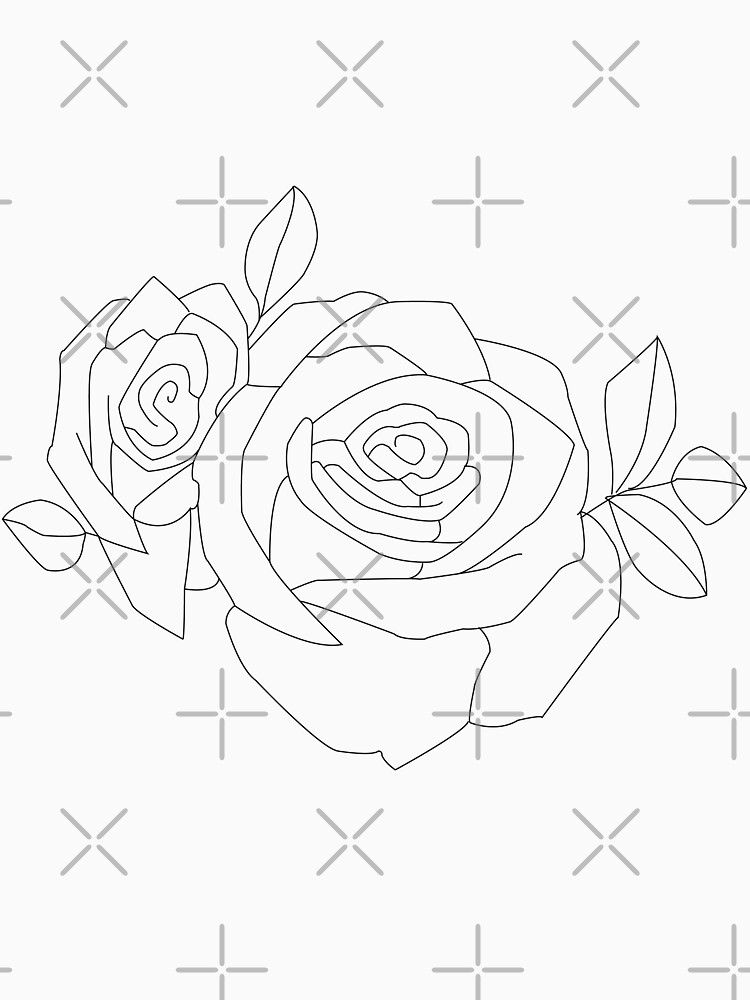"""Cover Up Rose Outline: """"Halsey Tattoo- Rose Outline"""" T-shirt By Savagedesigns"""