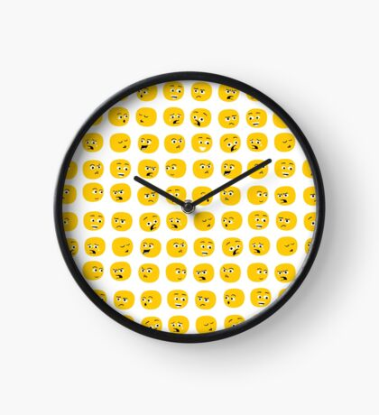 Yellow Expressions Clock