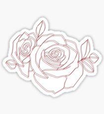 3D rose outline Sticker