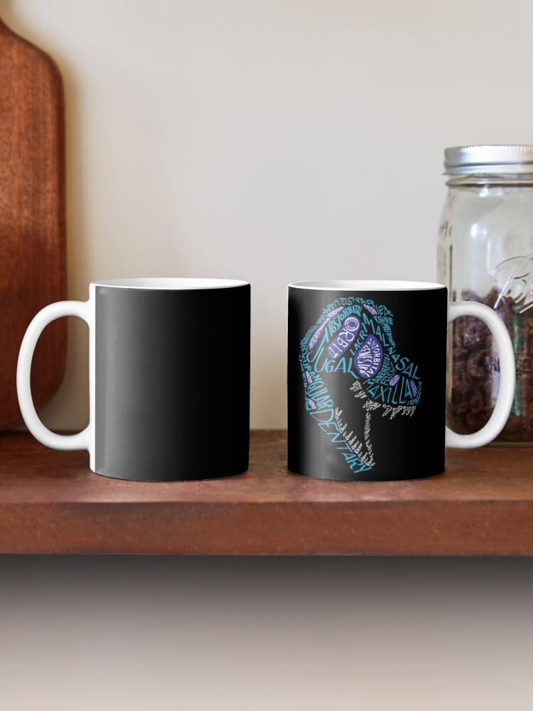 Alternate view of Color Calligram Tyrannosaur Skull Mug