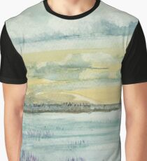 Aquarell Lavendel Wiese Graphic T-Shirt