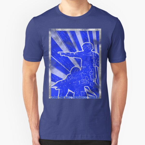 "BLUE Army ""ODST"" Propaganda Slim Fit T-Shirt"