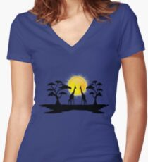 One and One Women's Fitted V-Neck T-Shirt