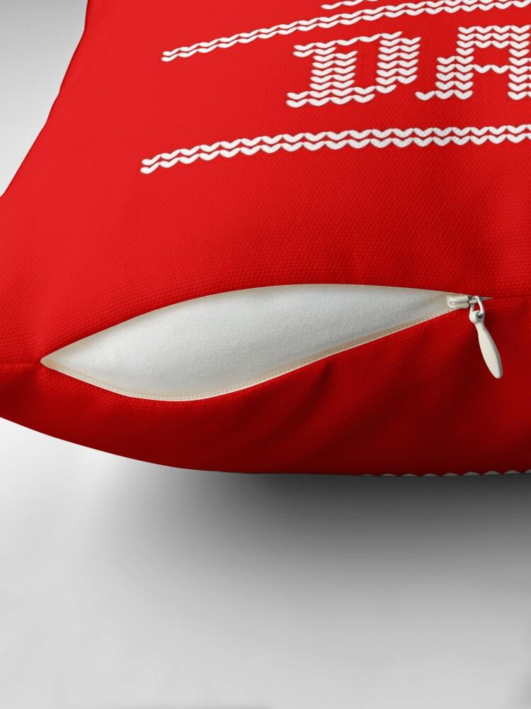 Alternative Ansicht von Weihnachten - Schlitten den ganzen Tag Dekokissen