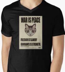 Orwellian Cat Says War Is Peace Mens V-Neck T-Shirt