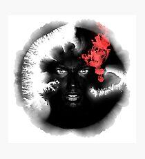 Voodoo Psychedelic Ink Man Photographic Print