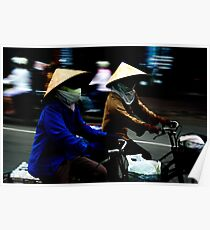 Ho Chi Minh City. Street Riders Poster