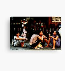 Ho Chi Minh City. The Luncheon on the Asphalt Canvas Print