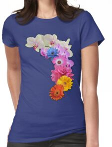 Flowery Love Womens Fitted T-Shirt