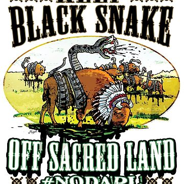NoDAPL on Sacred Sioux Land by MudgeStudios