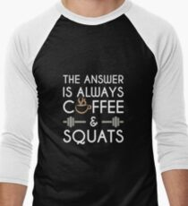 Coffee & Squats Men's Baseball ¾ T-Shirt