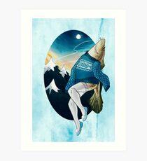 Festive Atlantic Cod Pinup Art Print