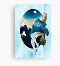 Festive Atlantic Cod Pinup Canvas Print