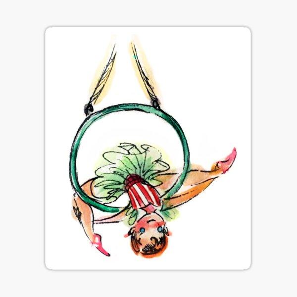 Holiday Cerceau Girl Sticker