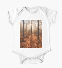 Foggy morning autumn forest One Piece - Short Sleeve