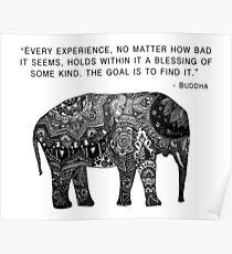 Buddha Wisdom Elephant Poster