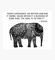 Buddha Wisdom Elephant Photographic Print