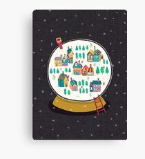 Christmas snow globe  Canvas Print