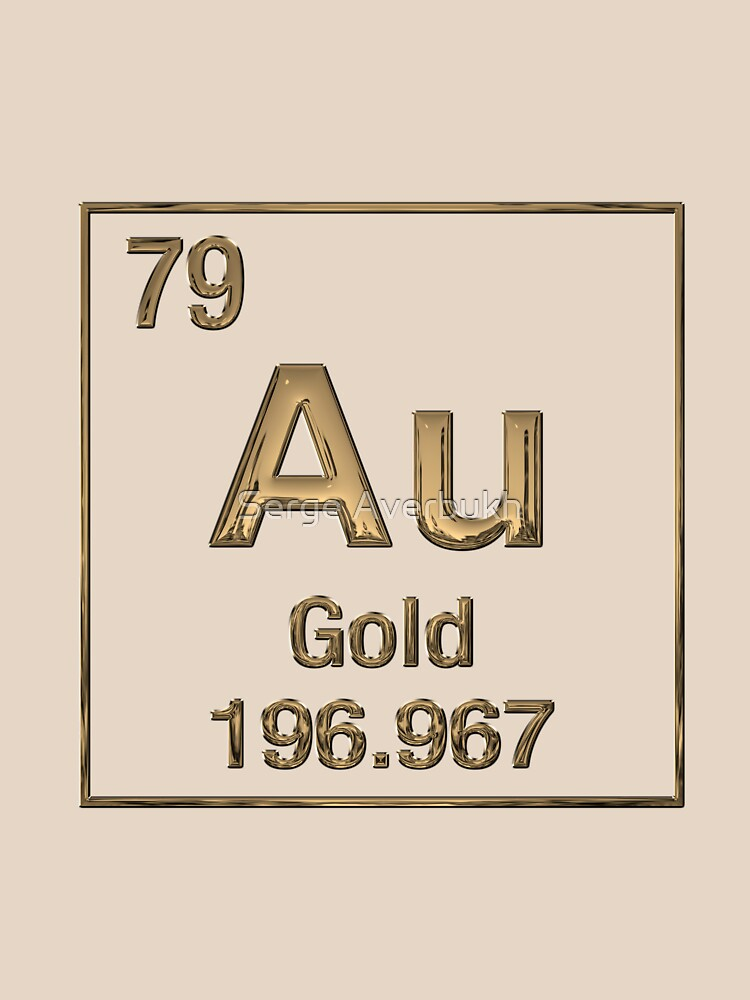 Periodic table of elements gold au unisex t shirt by captain7 periodic table of elements gold au by captain7 urtaz Image collections