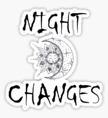Night Changes - One Direction Sticker