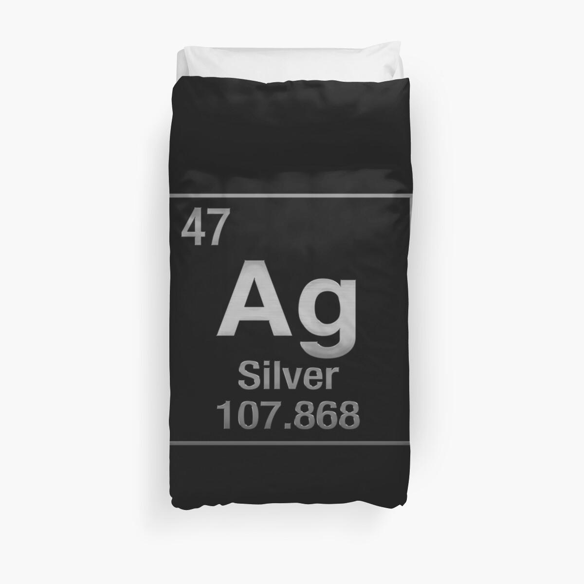 Fundas nrdicas tabla peridica de elementos plata ag en negro tabla peridica de elementos plata ag en negro de serge averbukh urtaz Choice Image