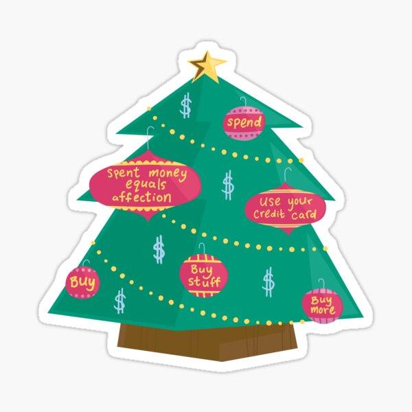 Capital Christmas tree Sticker