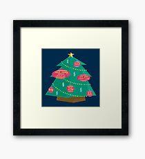 Capital Christmas tree Framed Print