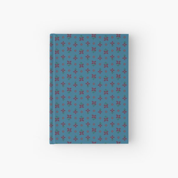 Blue and Red Prairie Dress Pattern Hardcover Journal