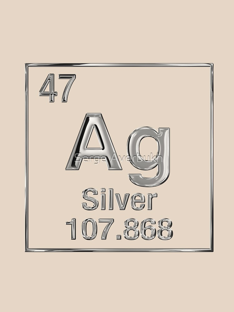 Periodic table symbol gold silver periodic table periodic table periodic table of elements silver ag classic t shirt by urtaz Image collections