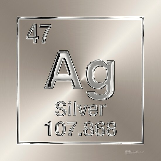 Periodic table of elements silver ag posters by serge averbukh periodic table of elements silver ag by serge averbukh urtaz Image collections