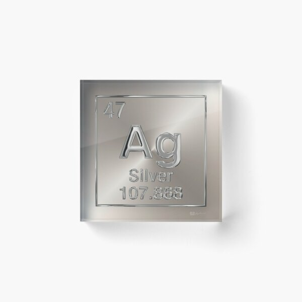 Periodic Table of Elements - Silver (Ag) Acrylic Block