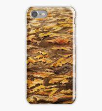 Aquarell Herbstlaub auf der Strasse iPhone Case/Skin