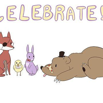 Celebrate! FNAF by VonRedwing