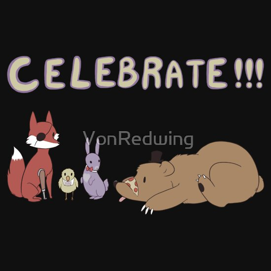TShirtGifter presents: Celebrate! FNAF | Unisex T-Shirt