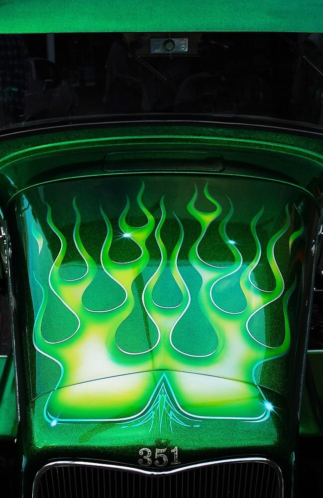 Green Fire 351 by Mark Malinowski