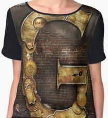 Steampunk - Alphabet - G is for Gears Women's Chiffon Top