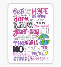 Scars To Your Beautiful von Alessia Cara Sticker