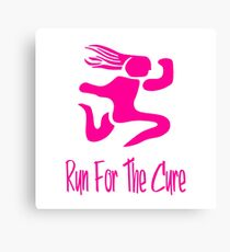 Run For The Cure Canvas Print