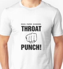 Rock Paper Scissors Throat Punch! T-Shirt