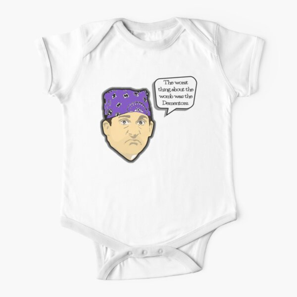 Custom for B -  Prison Mike1 Short Sleeve Baby One-Piece