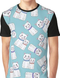 Cute Girly Christmas Holiday Polar Bears Graphic T-Shirt